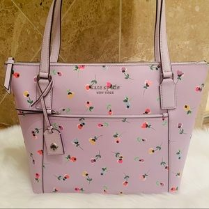 Pocket tote WKRU6433 Cameron wildflower Kate spade